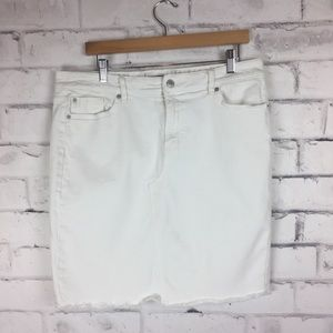 Joe Fresh white denim skirt